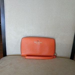 Kate Spade wallet orange
